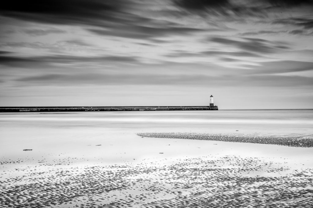 Berwick Pier - the initial monochrome conversion