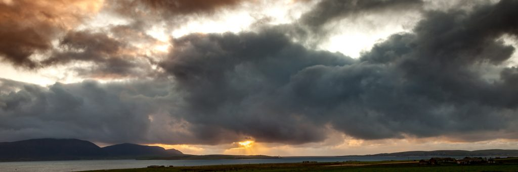 Sunset over Hoy from Mainland, Orkney