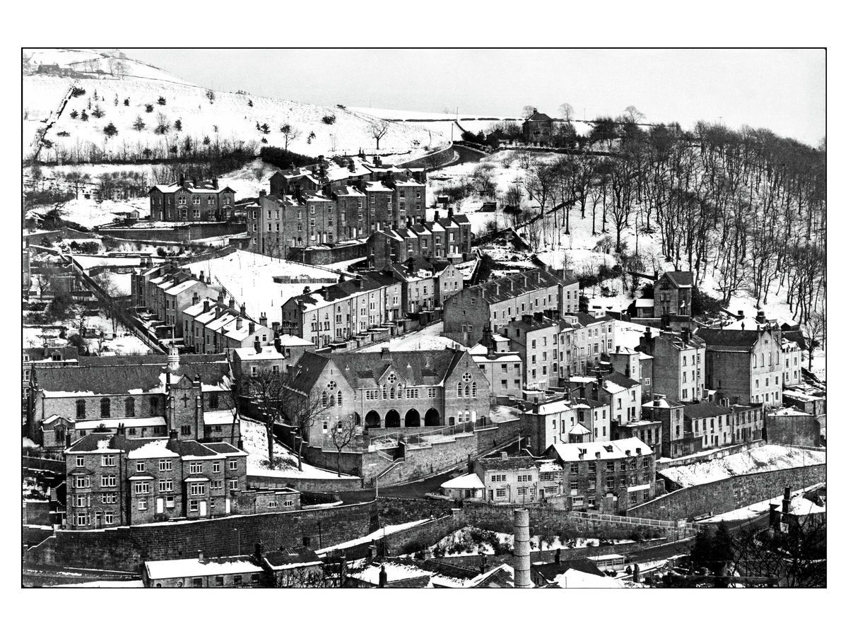 Denis Thorpe - Hebden Bridge in the snow 1978