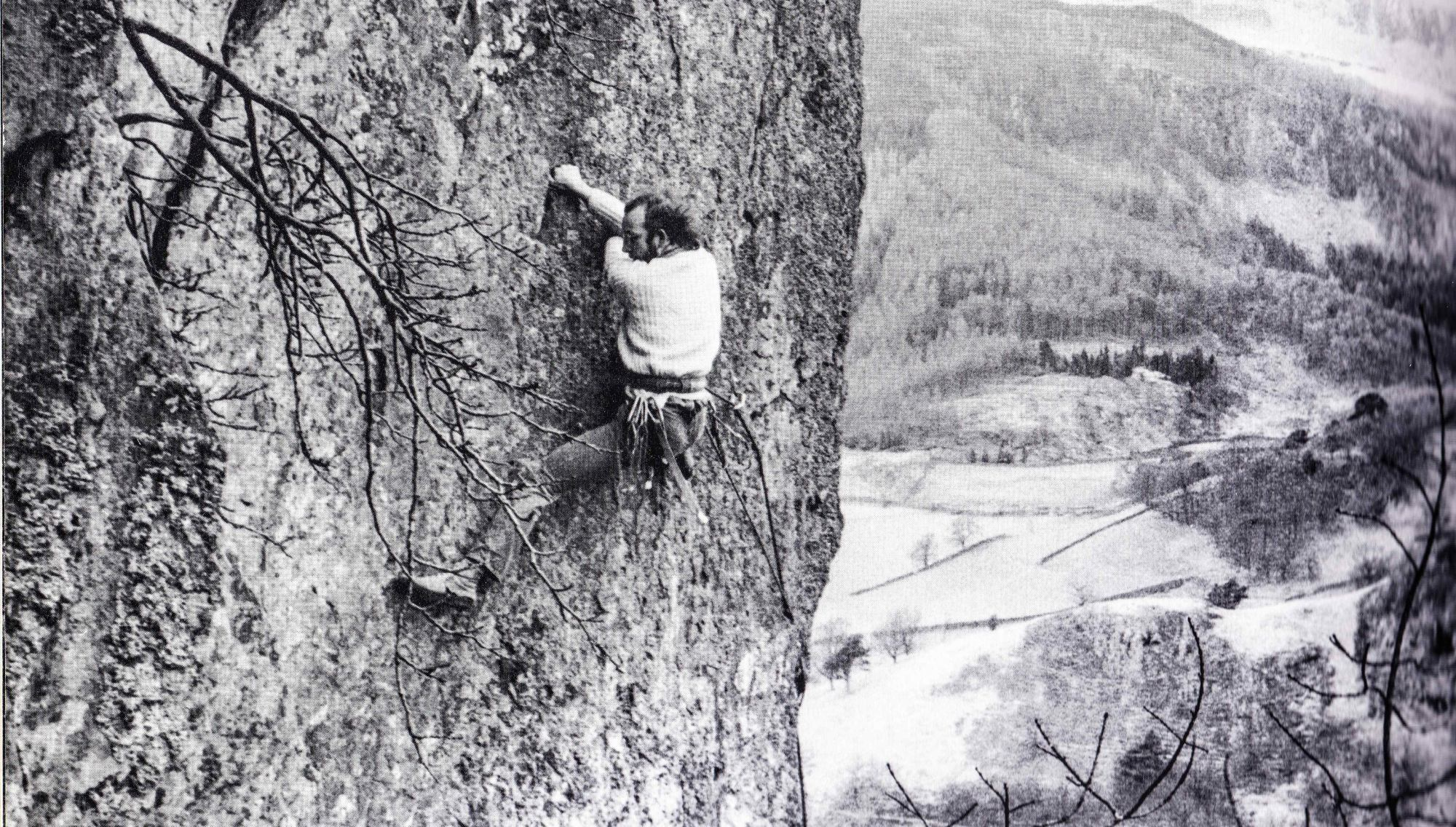Ed Grindley on North Crag Eliminate
